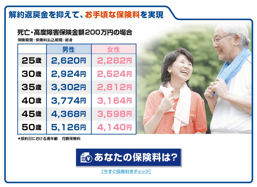 終身 保険 女性 金額